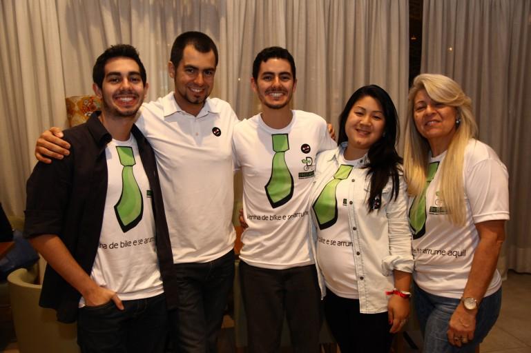 Rodrigo, Raphael, Juliana Hissae e Denise - Equipe do Dress me up no Prêmio Mobilidade Minuto