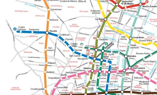 mapa-metro-cidade do mexico-divulgacao