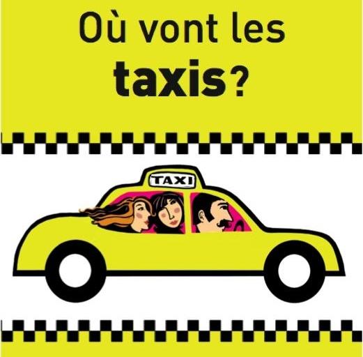 Capa do livro Aonde vão os táxis? Où vont les taxis?