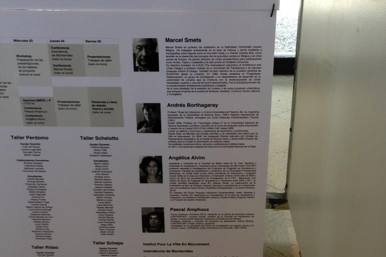 Trabalho apresentado por alunos da Faculdade de Arquitetura de Montevidéu:  a perspectiva de Passagens na requalificação de diferentes  regiões da capital uruguaia